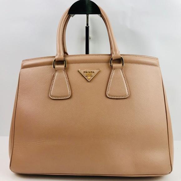 2747d759ee56 Prada Bags | Authentic Beige Saffiano Galleria Tote Bag | Poshmark